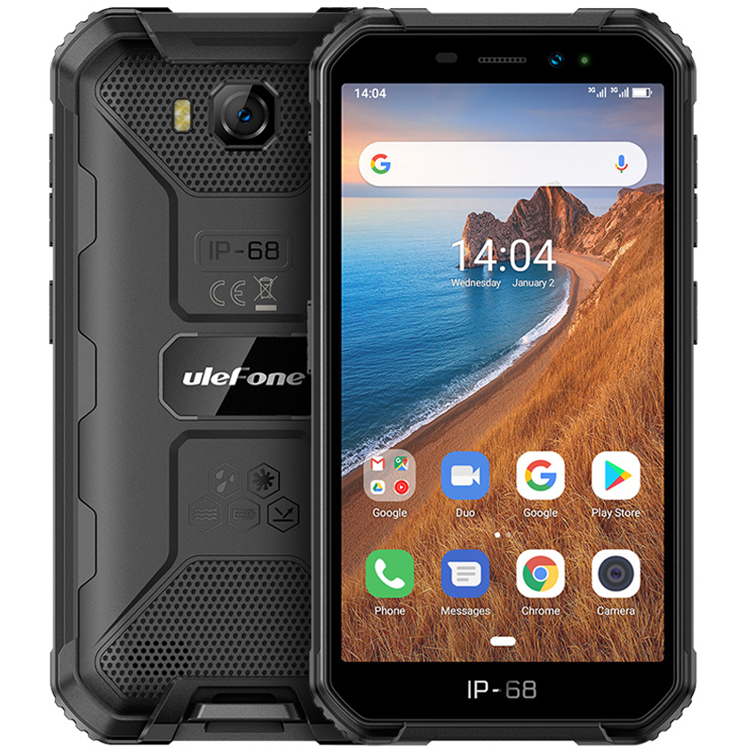 Ulefone Armor X6 IP68 shockproof Rugged Smartphone Android 9.0 MT6580 Quad-core mobile phone 4000mAh 2GB + 16GB 3G cellphone