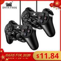 Sapo de dados com fio usb controlador de jogo para computador portátil joystick gamepad com vibração para winxp/win7 8 10 gamepads