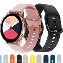 20mm Watch Strap For Samsung Galaxy Watch Active 2 40mm 44mm Band Gear sport wrist bracelet watchband samsung galaxy watch 42mm cheap fegwilde CN(Origin) 22cm Watchbands Silicone New without tags Amazfit GTS GTR 42mm for samsung Galaxy watch Active 42mm band