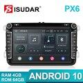 32557021060 - Isudar PX6 2 Din Android 10 Radio del coche para Skoda/asiento/Volkswagen/VW/Passat b7/POLO/GOLF 5 6 Auto reproductor Multimedia DVD GPS DVR