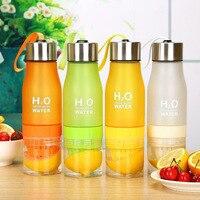 クリエイティブフルーツジュース注入器 650 ミリリットルプラスチックポータブルレモンジュースボトルウォータースポーツのための飲料ボトル