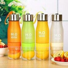 Creative Fruit Juice Infuser Water Bottle 650ml Plastic Portable Lemon For Sport Drinking
