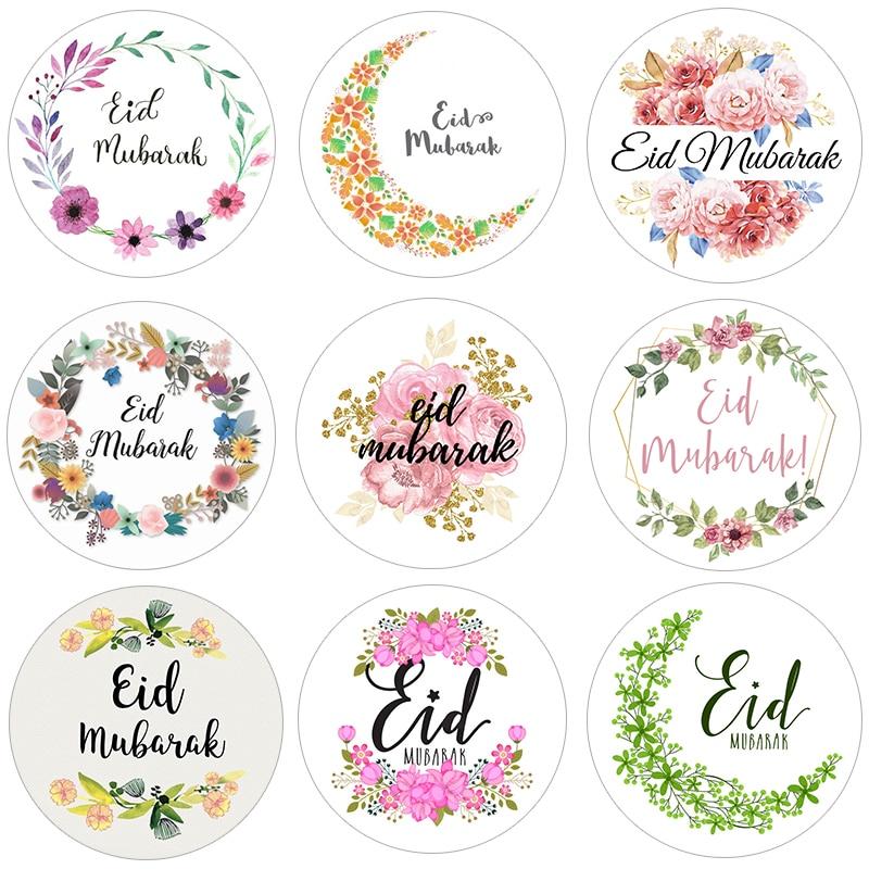 Etiqueta de etiqueta de papel decoração eid mubarak decorações de etiqueta de presente etiqueta de vedação islâmica muçulmano eid al-fitr suprimentos de decoração