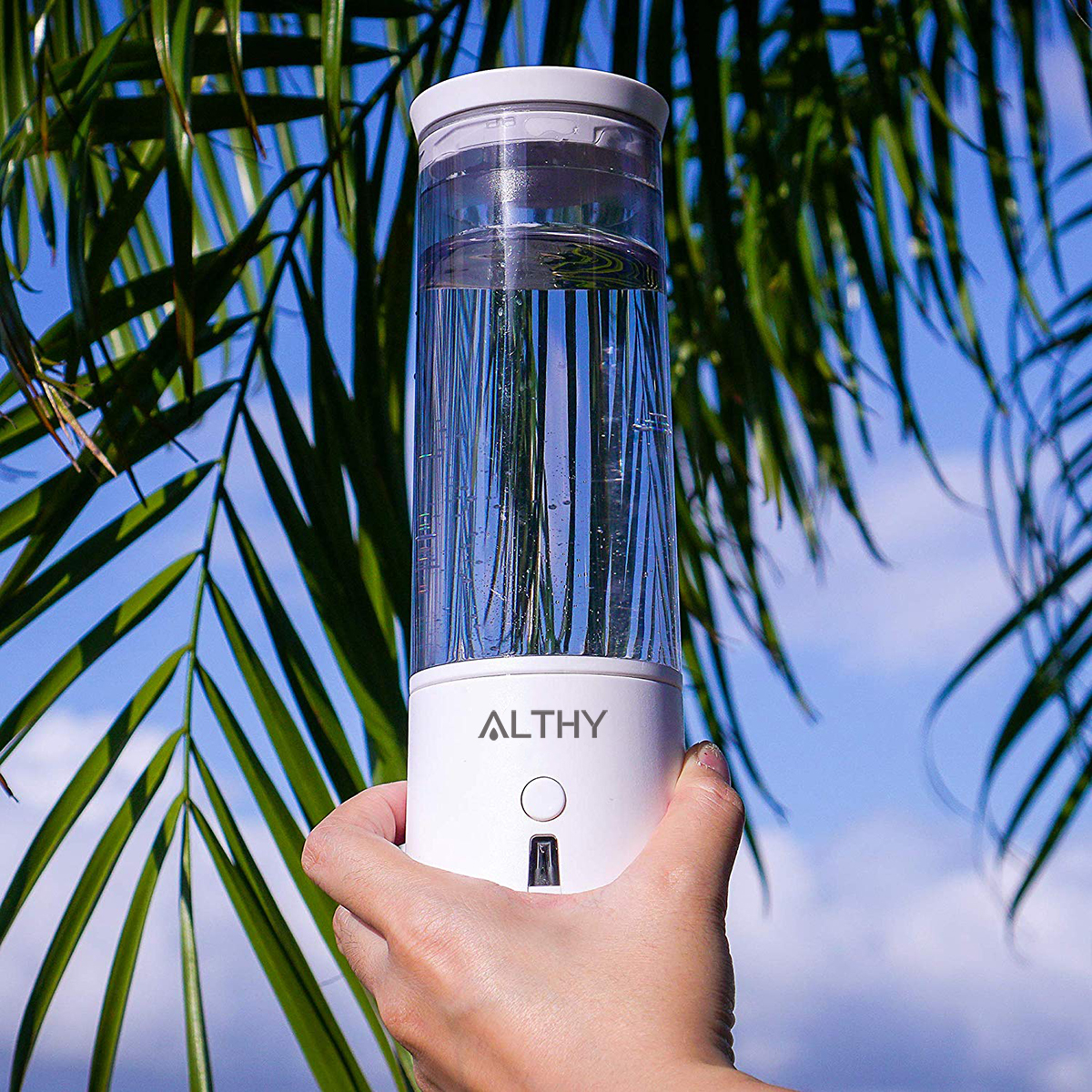 Image 5 - ALTHY SPE PEM Hydrogen Rich Water Generator Bottle lonizer H2 Maker Electrolysis Cup Anti Aging Portable USB RechargeableWater Filters   -