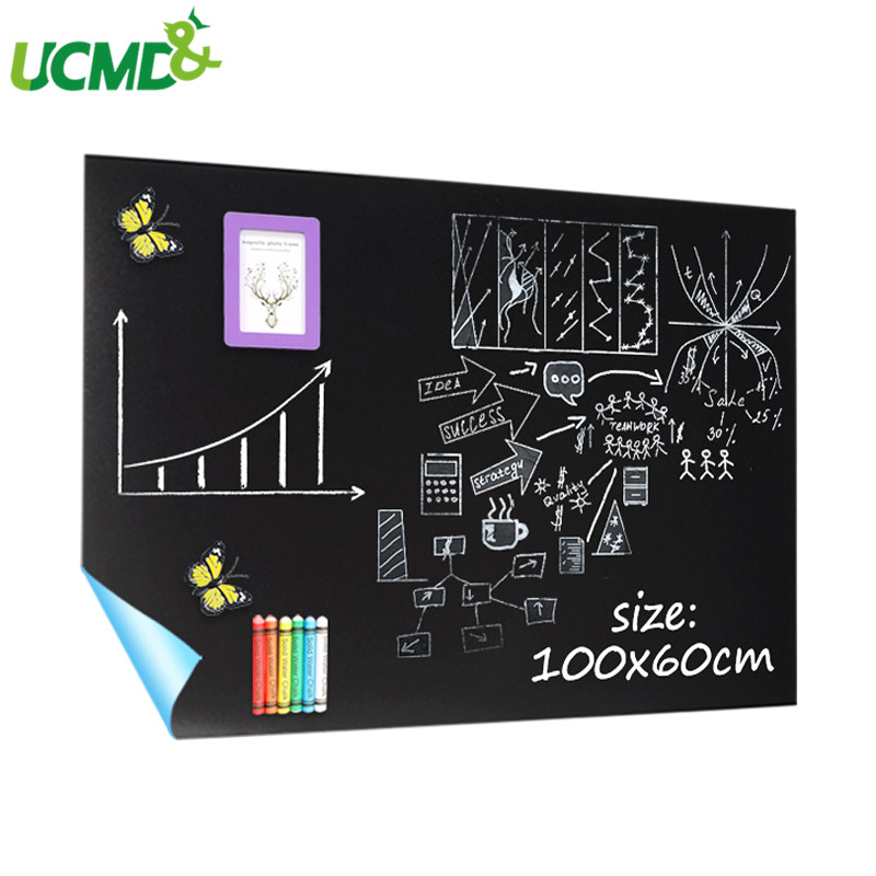 100x60cm Removable Chalkboard Vinyl Wall Sticker Self Adhesive Kids Graffiti Writing Learning Blackboard Office School Supply