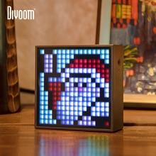 Divoom מוסת הזמן Evo Bluetooth נייד רמקול עם שעון מעורר לתכנות LED תצוגה עבור פיקסל אמנות יצירה ייחודי מתנה