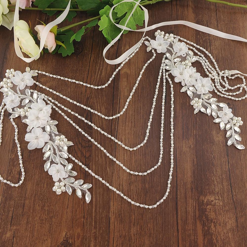TRiXY G05 Pearls Wedding Shawl Flora Bling Beaded Jacket Bolero Wrap Bridal Wedding Wrap Evening Prom Fashion Women Accessories