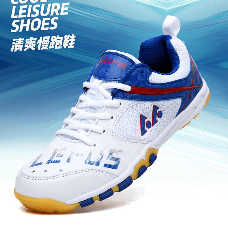 Zapatos de Bádminton de primavera para hombres zapatos deportivos de músculo de vaca zapatos de Bádminton de cuero para mujer zapatos de hombre antideslizantes de Bádminton