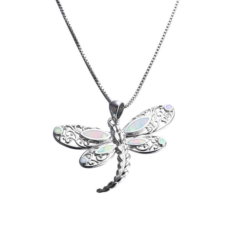 Elegant Gift Women Fashion Jewelry Opal Necklace Cat Pendant Earrings Chain