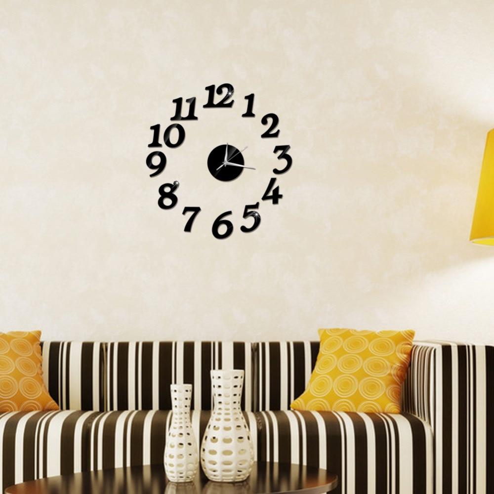 3D Wall Clock Mirror Wall Stickers Fashion Living Room Quartz Watch DIY Home Decoration Clocks Sticker reloj de pared 4