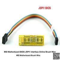 Msi placa-mãe bios chip gratuito em linha queima máquina de escova fio msi jspi1 troca quente
