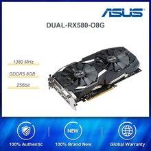 Ana ASUS RX serisi oyun grafik kartı AMD STRIX RX580 2048SP 8G GDDR5 256bit DVI/DP/HDMI 8000MHz bellek frekansı