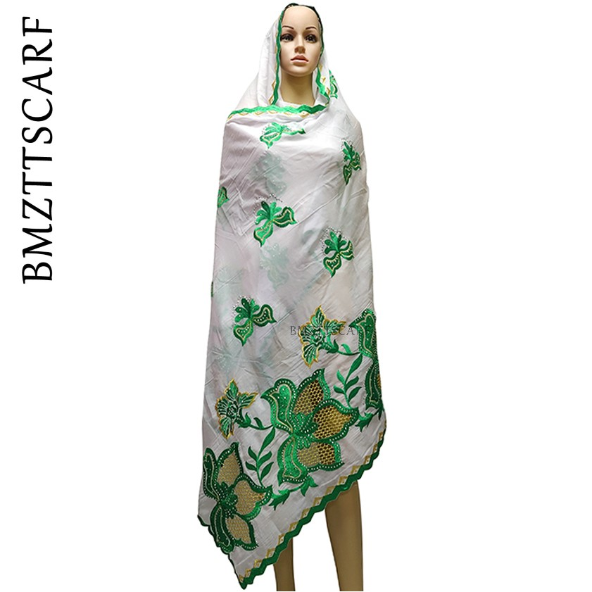 2020 New African Scarves For Women, Cotton Nation Scarf Embroidery Scarf Shawl, Women's Outdoor Scarf BM959