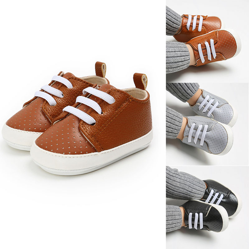 Baby Shoes Pu Leather Shoes Sports Sneaker Newborn Baby Boys Girls Casual Shoes Infant Sport Soft Anti-slip Shoes