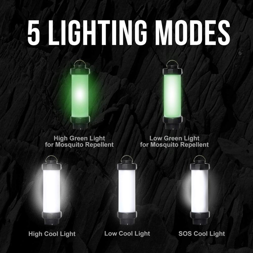 Купить с кэшбэком Mosquito Repellent Light 1W/2W Strong Magnet Camping Light Lantern USB Rechargeable 5Level Dimmable White Green Light Tent Light