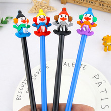 20 Pcs Circus clown Gel Pen 0.5mm Ink Stationery Kawaii for Christmas Table Decoration Writing School office pluma Novelty Gift