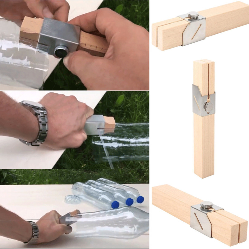 DIY Portable Creative Plastic Smart Bottle Rope Cutter Outdoor Green Hand Garden Home Decoration Tool