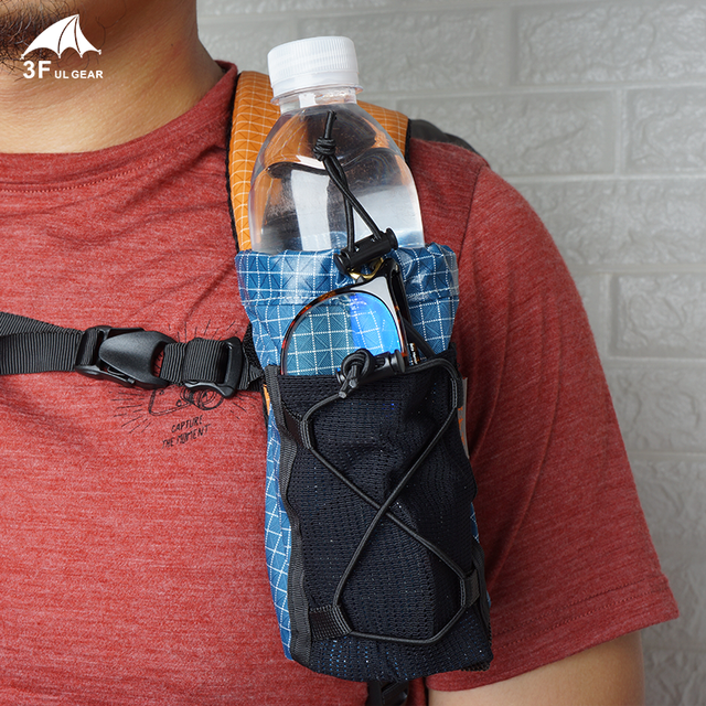 3F UL Getriebe Wasser Flasche Strap Pack Lagerung Tasche Tasche Rucksack Schulter Gurt Tasche Hydratation Träger Halter Für Wandern Camping