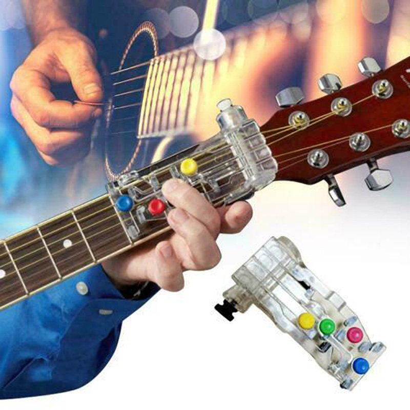Anti-Pain Finger Cots Guitar Assistant Chord Buddy Teaching Aid Guitar Learning System Teaching Aid For Guitar Beginner Learning