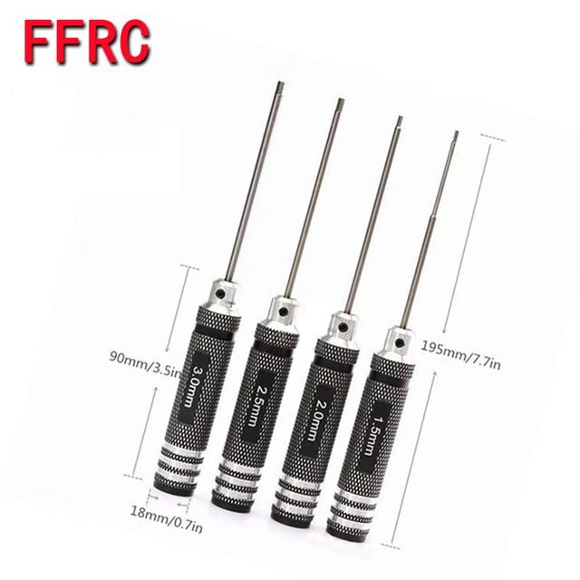 1 set 1.5mm/2.0mm/2.5mm/3.0mm Handle Allen Hex Screwdrivers Key Driver Tool For RC Car/Heli HPI HSP trx4 Losi Axial KyoshoTamiya