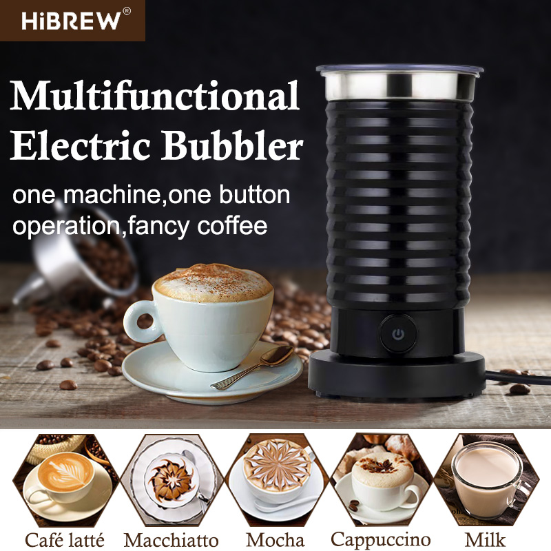 HiBREW MF04 Foaming Milk Machine Cold/Hot Dual Use Full Automatic Household Foaming Milk Machine 400W EU/UK Plug