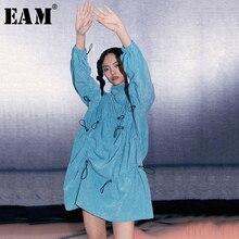 pleaed 女性ブルー巾着 [Eam] 2020