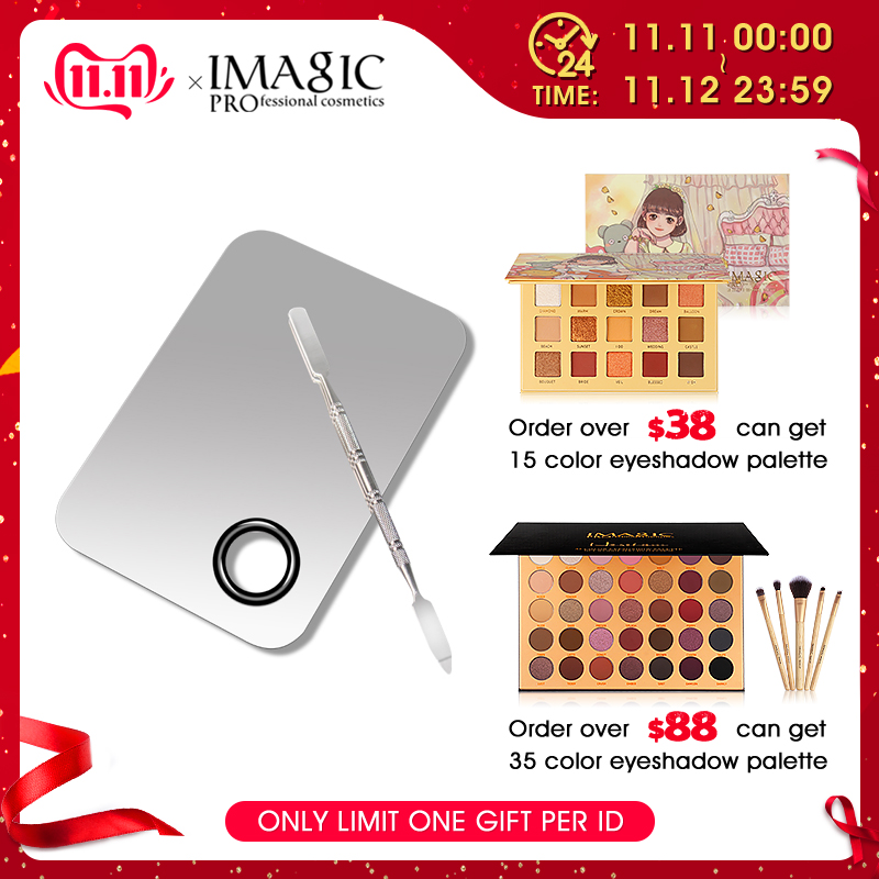 Professional Makeup Palette Beauty Stainless Makeup Nail Eye Shadow Foundation Mixing Palette Spatula Cosmetic Tools