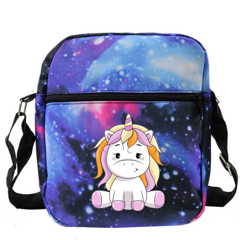 Unicorn Small Flap Women Shoulder Crossbody Bags Canvas Mini Phone Purses Bag Fashion Outdoor Messenger Handbag Sac Main Femme