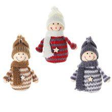 Joyeux noël décorations pour la maison bonhomme de neige ange poupées suspendus ornements nouvel an Kerst Decoratie décorations d'arbre de noël