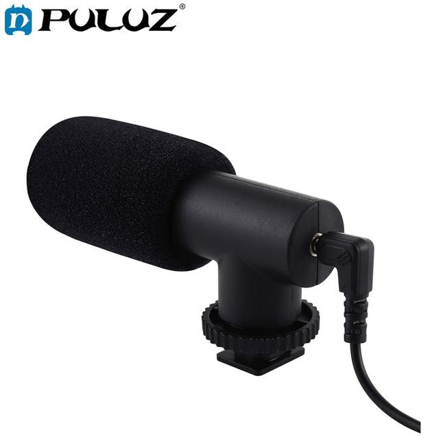 PULUZ 3.5mm Audio Stereo Filmmaking Recoding Photography Interview Microphone for Vlogging Video DSLR &DV For iphone,Smartphones
