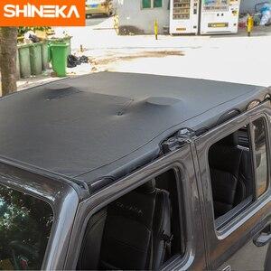 Image 2 - SHINEKA غطاء سيارة 4 باب جلد لينة سقف علوي كامل طول غطاء ظلة اكسسوارات ل جيب رانجلر JL 2018 2019 2020
