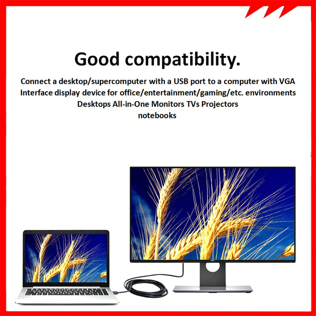 Usb кабель 30 папа vga 15/2/3/5 м usb адаптер Аудио Видео практичный