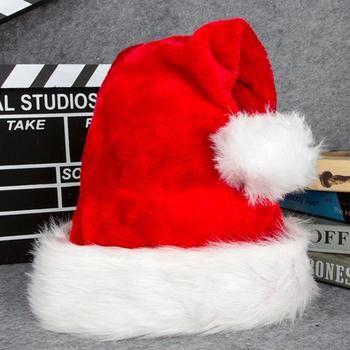 Czapka mikołaja miękka i wygodna pluszowa czerwono-biała czapka świętego mikołaja Plus zagęszczony duży kapelusz balowy sukienka na wakacje tanie i dobre opinie Strong-Toyers CN (pochodzenie) Dzieci Tkaniny Christmas Hat Polyester Red White 45 * 32cm( Adults) 38*28cm( Kids) 1*Christmas Hats