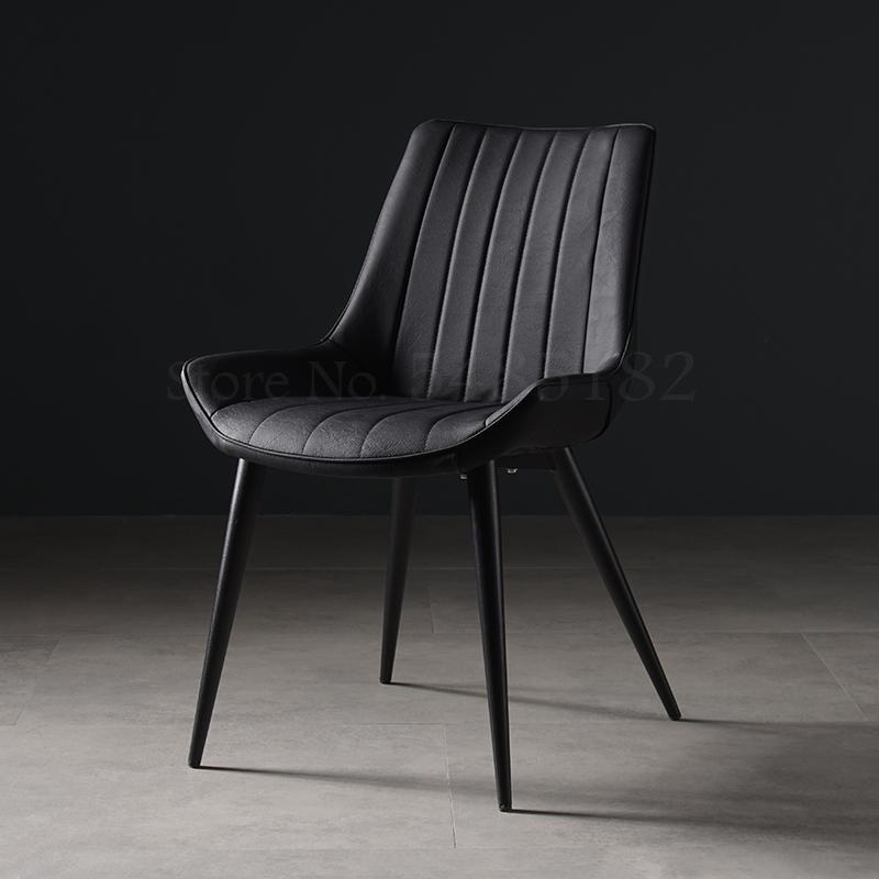 Nordic dining table chair desk simple home leather dining chair ins net red makeup chair stool back light luxury dining chair