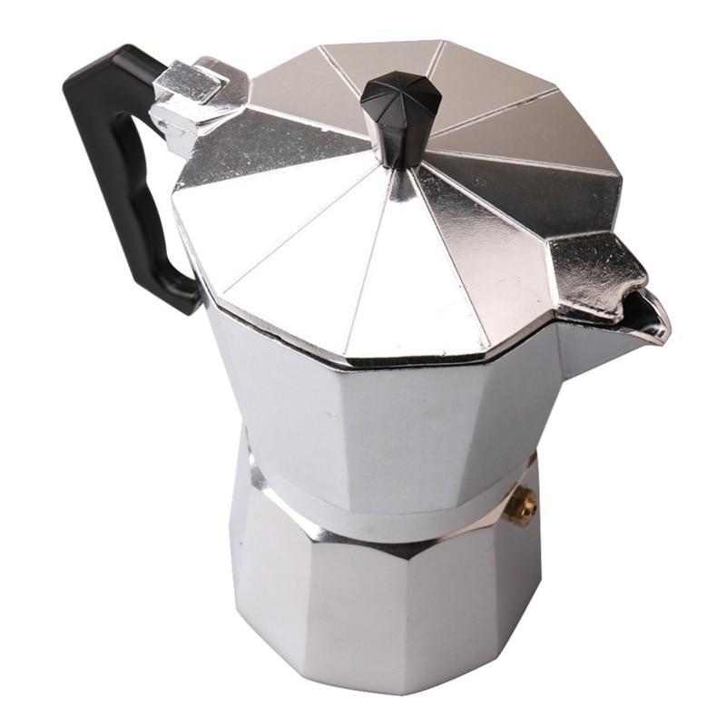 Moka Espresso Coffee Maker Machine /Glantop Aluminum 6Cup Italian Stove Top/Percolator Pot Tool Coffee Pots     - title=