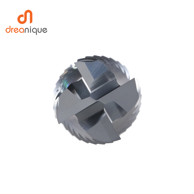 Solid Carbide roughing end mill 4 flute CNC Milling Cutter Bits Router Bit for 50 hrc Metal Roughing machining 6mm to 20mm