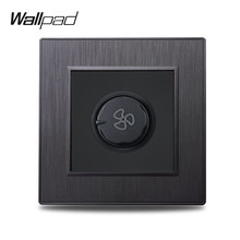 Wallpad S6 Fan Speed Regulator Controller 3 Colors Electic Switch Brushed PC Plastic Imitating Aluminum