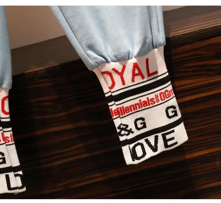 L-4xl Casual Korean Two Piece Sport Sets Outfits Women Plus Size Letters Print Sweatshirts And Pants Suits Fashion Kawaii Tracksuits Sets 56