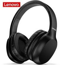 Lenovo hd100 sem fio bluetooth fones de ouvido bt5.0 cancelamento de ruído estéreo música fone de ouvido com microfone para telefone pc áudio jack