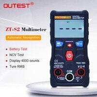 ZOYI ZT S2 Digital Multimeter autoranging 4000 zählt true rms Multimetro AC DC 600V Voltmeter + batterie/NCV test lcd hintergrundbeleuchtung-in Multimeter aus Werkzeug bei