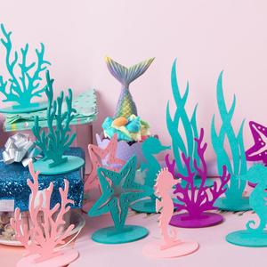 Mermaid Party Supplies Seaweed Little Mermaid Birthday Party Decor Under the Sea Girl 1st Birthday Babyshower Girl Baby Shower
