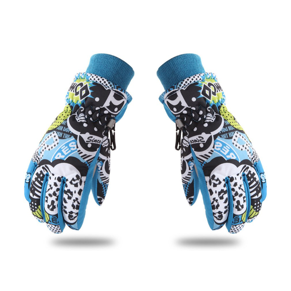 Children Skiing Gloves Waterproof Windproof Non-slip Snow Skating Gloves Thick Warm Gloves For Winter Sports New 2018