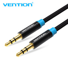 Vention-Cable auxiliar de 0,5 m, 1m, 2m, 5 m, 3,5mm a 3,5mm, Cable de Audio macho a macho, conector Kabel dorado, Cable auxiliar para coche para iphone, Samsung y xiaomi