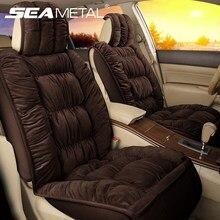 Housses de siège de voiture en peluche chaude, accessoires d'intérieur automobile d'hiver, housse de siège automobile, tapis de coussin, ensemble de protection de voiture universel