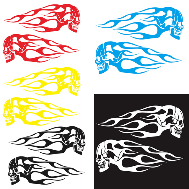 $ 2.5 Car Sticker Flame and Decals Motorcycle Gas Tank Vinyl Auto Decal Vehicle Styling Stickers Car Accessories
