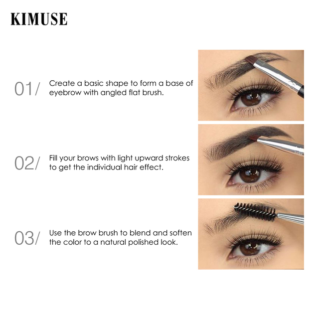 KIMUSE Eyebrow Gel Dye Waterproof Eyebrow Shasow Eyebrow Tint Eye Makeup Eyebrow Pencil Long Lasting Cosmetic Eyebrow Enhancer 3
