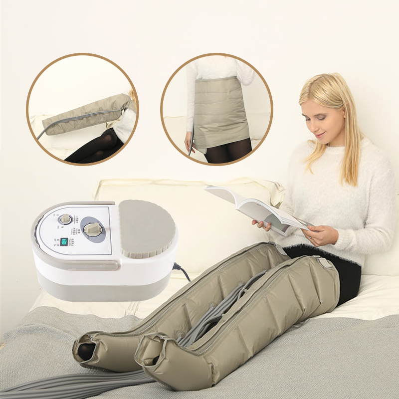 Body Relax Tools 6 Cavity Air Compression Leg Massager Wraps Ankles Calf Therapy Promote Blood Circulation Relieve Pain Fatigue