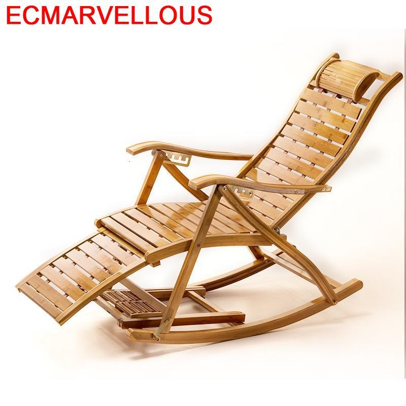 Lazy Arm Fotel Rocking Chair Fauteuil Salon Sillon Reclinable Bamboo Sillones Moderno Para Sala Folding Bed Chaise Lounge|  - title=