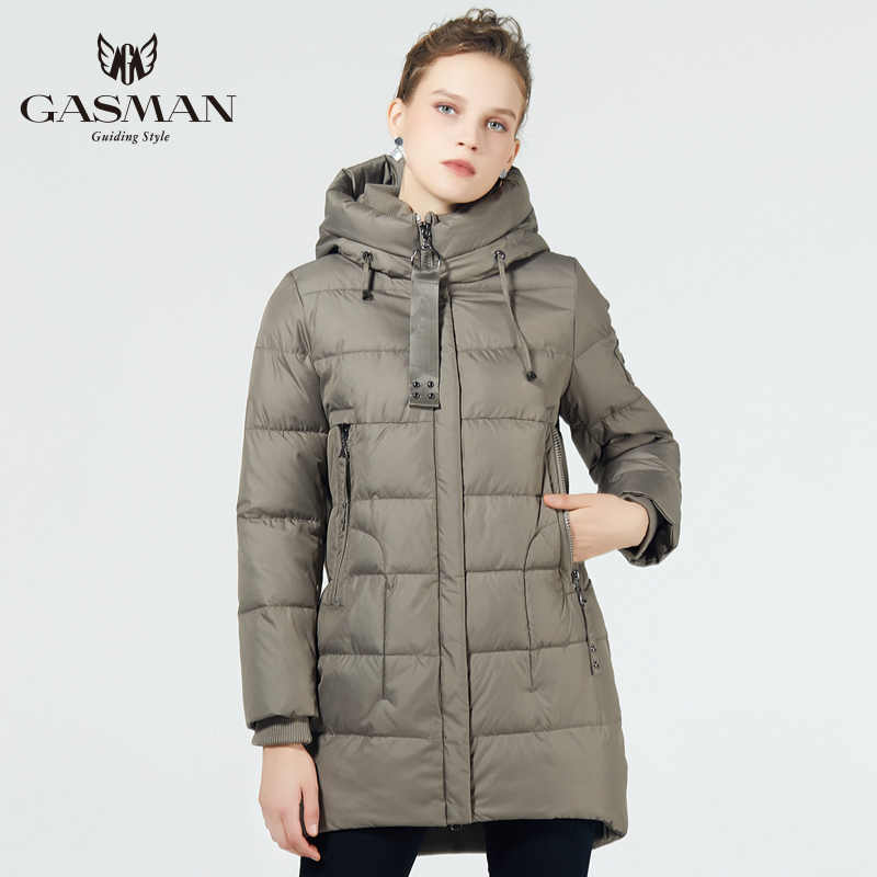 GASMAN 2019 Winter Coat female medium-long down jacket winter women hooded warm women's winter jacket parka fashion