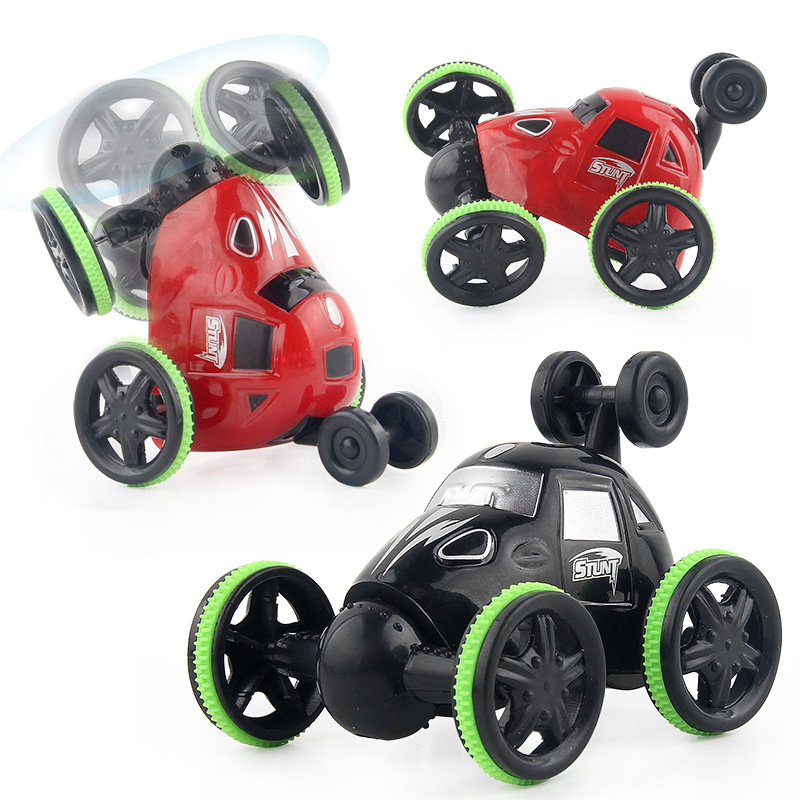 2.4G Remote Control Charging Wireless Mini Stunt Car Dumpers Universal Revolving Cars Tyre Light 3-6-Year-Old Toy